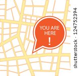 you are here vector design | Shutterstock .eps vector #124752394