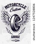 vintage biker design with... | Shutterstock .eps vector #1247528806