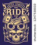 tattoo style vector art with... | Shutterstock .eps vector #1247530033