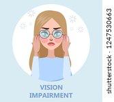 visual impairment as a symptom... | Shutterstock .eps vector #1247530663