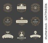 restaurant logos design... | Shutterstock .eps vector #1247543206