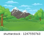summer day vector illustration. ... | Shutterstock .eps vector #1247550763