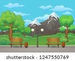 summer  spring day park scene.... | Shutterstock .eps vector #1247550769