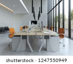 interior modern open space... | Shutterstock . vector #1247550949