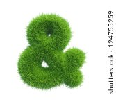 Ampersand Sign Grass Isolated...