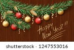 merry christmas and happy new... | Shutterstock .eps vector #1247553016