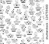 seamless pattern drinking of... | Shutterstock . vector #124755400