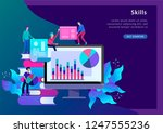 concept landing page template... | Shutterstock .eps vector #1247555236