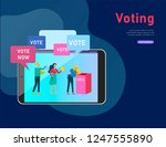 voting and election concept.... | Shutterstock .eps vector #1247555890