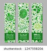 ecology green food banner set... | Shutterstock .eps vector #1247558206