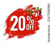 20  sale red blobs banner ... | Shutterstock .eps vector #1247558380