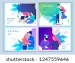 online dating concept app login ... | Shutterstock .eps vector #1247559646
