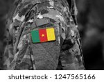 flag of cameroon on soldiers...   Shutterstock . vector #1247565166