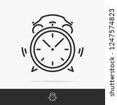 alarm icon set line style.  | Shutterstock . vector #1247574823