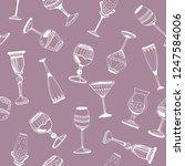 hand drawn vector seamless... | Shutterstock .eps vector #1247584006