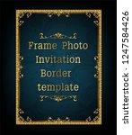 decorative vintage frame and... | Shutterstock .eps vector #1247584426