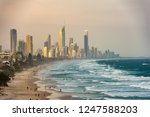 surfers paradise waterfront... | Shutterstock . vector #1247588203