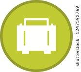 briefcase glyph round circle... | Shutterstock .eps vector #1247592769
