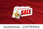 christmas sale promotional... | Shutterstock .eps vector #1247593426