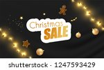 christmas sale promotional... | Shutterstock .eps vector #1247593429
