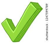 vector cartoon light green ok... | Shutterstock .eps vector #1247599789
