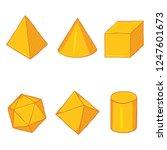 vector set of cartoon golden... | Shutterstock .eps vector #1247601673