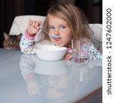 funny shaggy girl is having...   Shutterstock . vector #1247602000