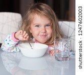 funny shaggy girl is having...   Shutterstock . vector #1247602003