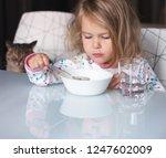 funny shaggy girl is having...   Shutterstock . vector #1247602009