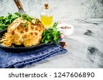 homemade whole roasted... | Shutterstock . vector #1247606890