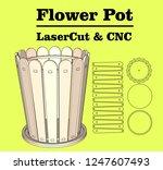 laser cutting flower pot.... | Shutterstock .eps vector #1247607493