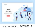 mail service and correspondence ... | Shutterstock .eps vector #1247607919