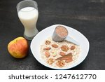 preparing protein bar or balls... | Shutterstock . vector #1247612770