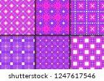 set of floral ornament.... | Shutterstock .eps vector #1247617546