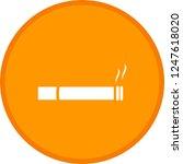 cigarette glyph round circle... | Shutterstock .eps vector #1247618020