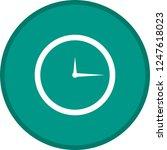 clock glyph round circle... | Shutterstock .eps vector #1247618023