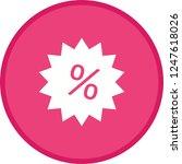 discount label glyph round... | Shutterstock .eps vector #1247618026