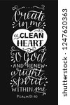 hand lettering create in me a... | Shutterstock .eps vector #1247620363