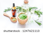 organic cosmetics with extracts ... | Shutterstock . vector #1247621113