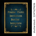 decorative vintage frame and... | Shutterstock .eps vector #1247629636