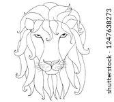 lion head silhouette sketch ... | Shutterstock .eps vector #1247638273