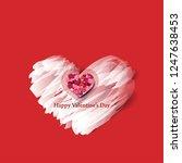 heart and brush strokes for... | Shutterstock .eps vector #1247638453