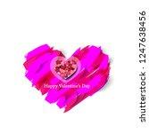 heart and brush strokes for... | Shutterstock .eps vector #1247638456