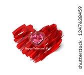 heart and brush strokes for... | Shutterstock .eps vector #1247638459