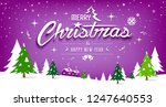merry christmas  tree and snow... | Shutterstock .eps vector #1247640553