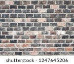 grunge brick wall background... | Shutterstock . vector #1247645206