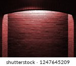 red brick wall with spotlight | Shutterstock . vector #1247645209