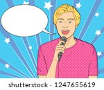 pop art background. imitation... | Shutterstock .eps vector #1247655619