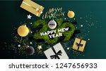 christmas. merry christmas and... | Shutterstock .eps vector #1247656933