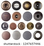 metal jeans buttons and rivets... | Shutterstock . vector #1247657446